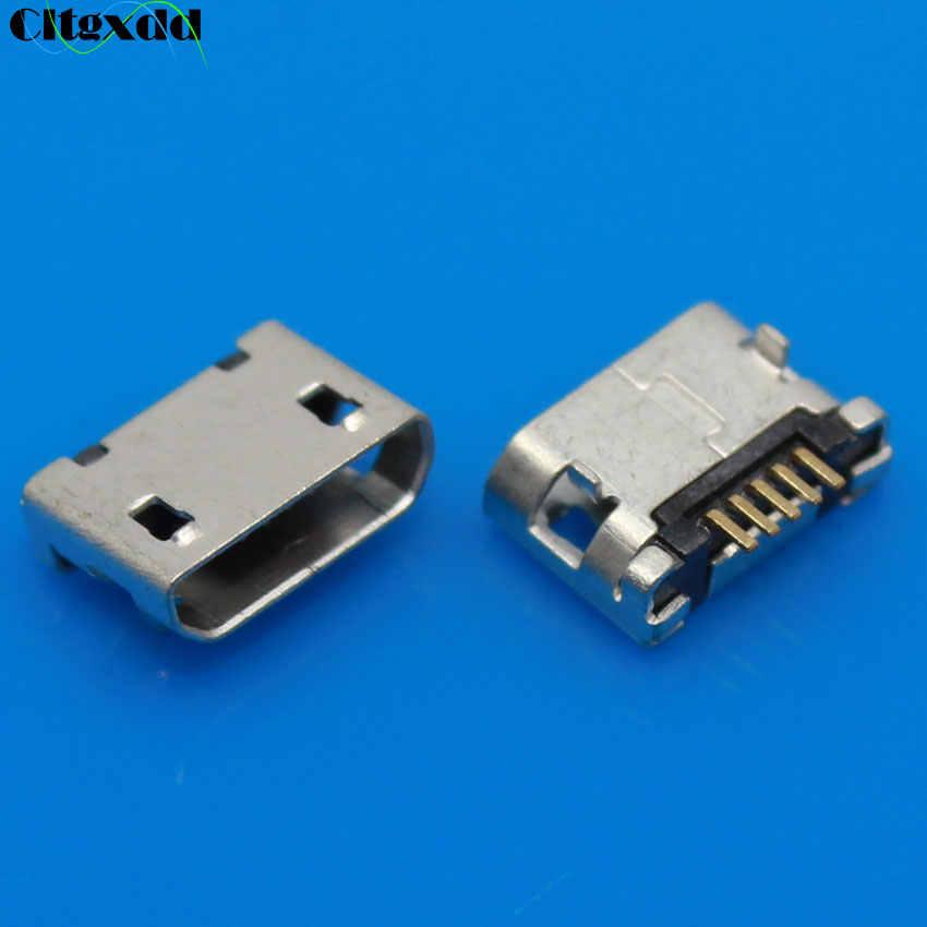 Cltgxdd 1 sztuk Micro USB Jack 5 Pin płaskie DIP ogon gniazdo złącze Micro USB Port ładowania dla Samsung Lenovo huawei ZTE HTC ect