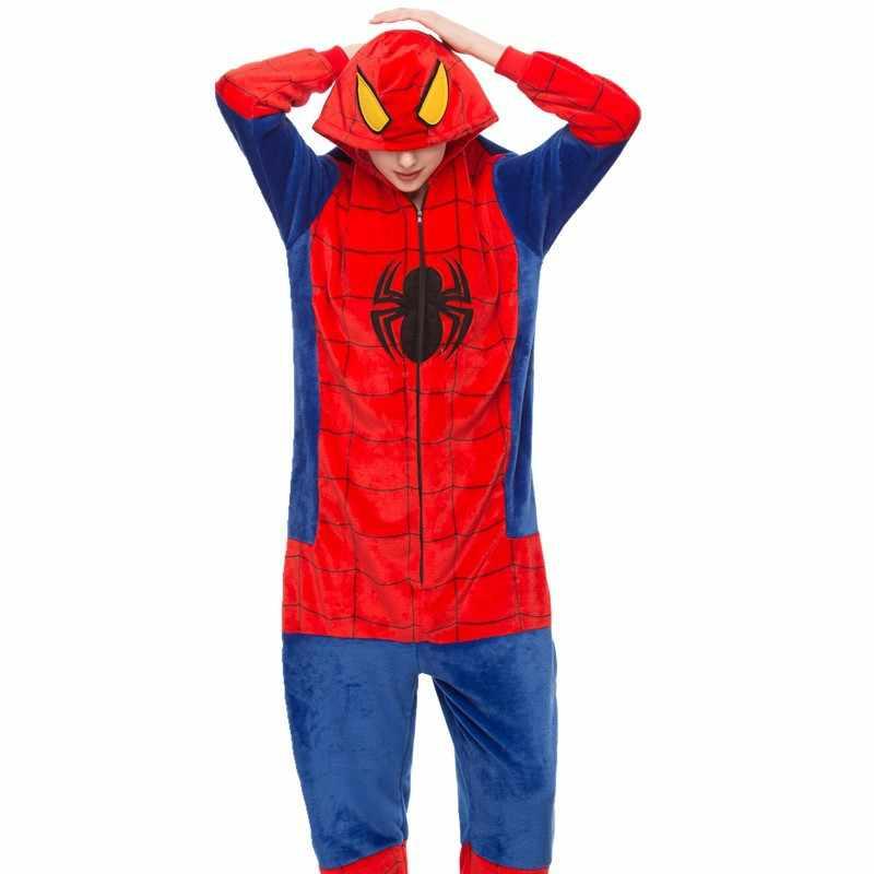 大人パンダ着ぐるみカバーオール女性の動物のコスチュームアニメスパイダーマンポケモン手下コスプレパジャマ少年少女冬のジャンプスーツ