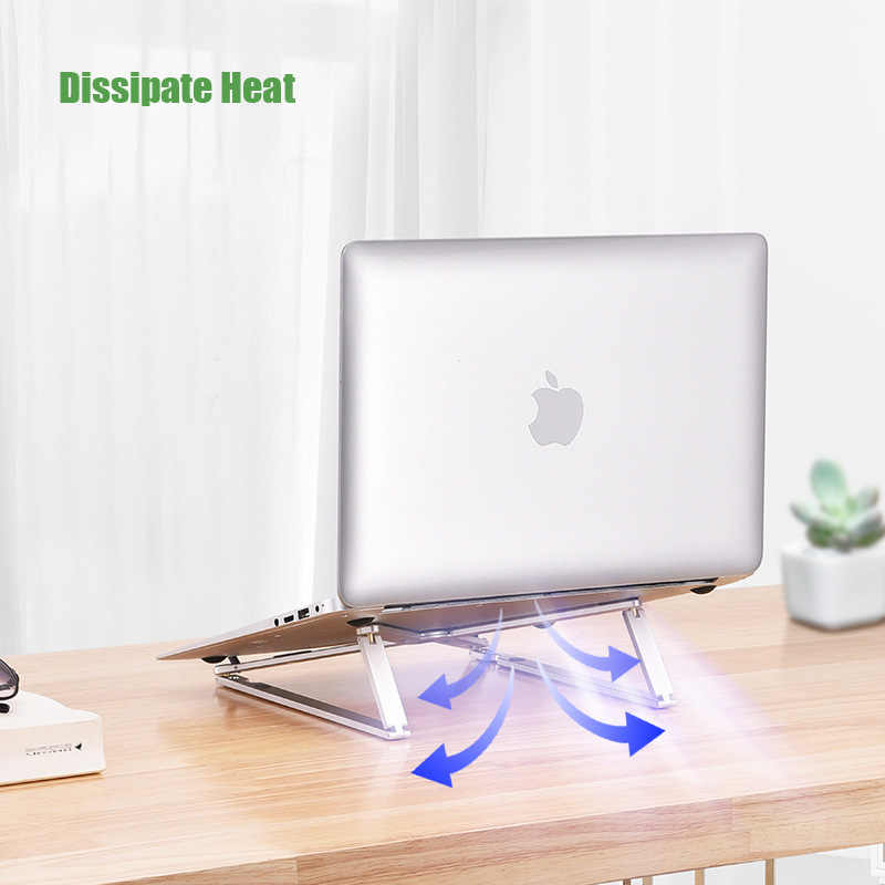 Soporte portátil de disipación del calor para Macbook Pro Air ajustable plegable de aluminio portátil soporte de escritorio de 7-15 pulgadas