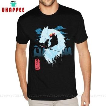 Round Collar Princess Mononoke Hime t shirt T Shirts Mens Big Size Black T-shirts - discount item  46% OFF Tops & Tees