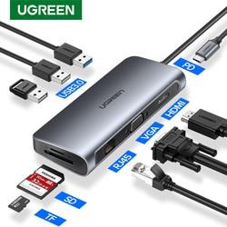 Ugreen USB HUB C HUB to Multi USB 3,0 HDMI адаптер док-станция для MacBook Pro Аксессуары USB-C Type C 3,1 разветвитель 3 порта USB C HUB