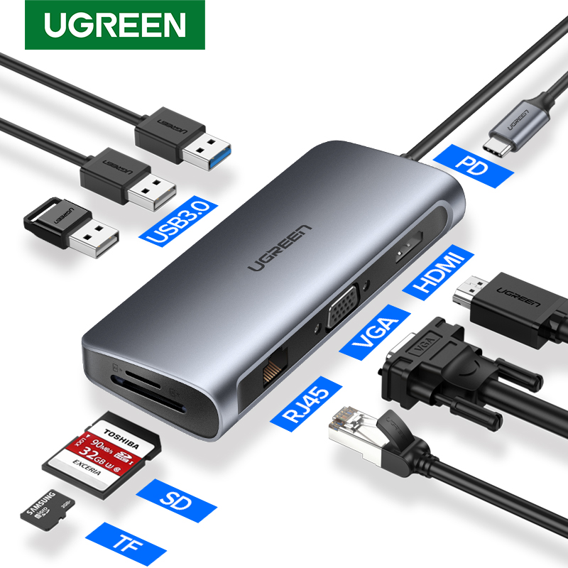 Ugreen USB HUB C HUB zu Multi USB 3,0 HDMI Adapter Dock für MacBook Pro Zubehör USB-C Typ C 3,1 splitter 3 Port USB C HUB
