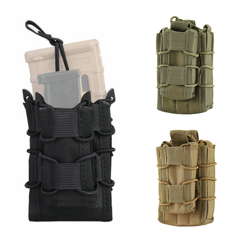 PORTABLE TACTICAL MOLLE MAGAZINE POUCH RIFLE PISTOL AIRSOFT MAG SHEATH CARRIER O