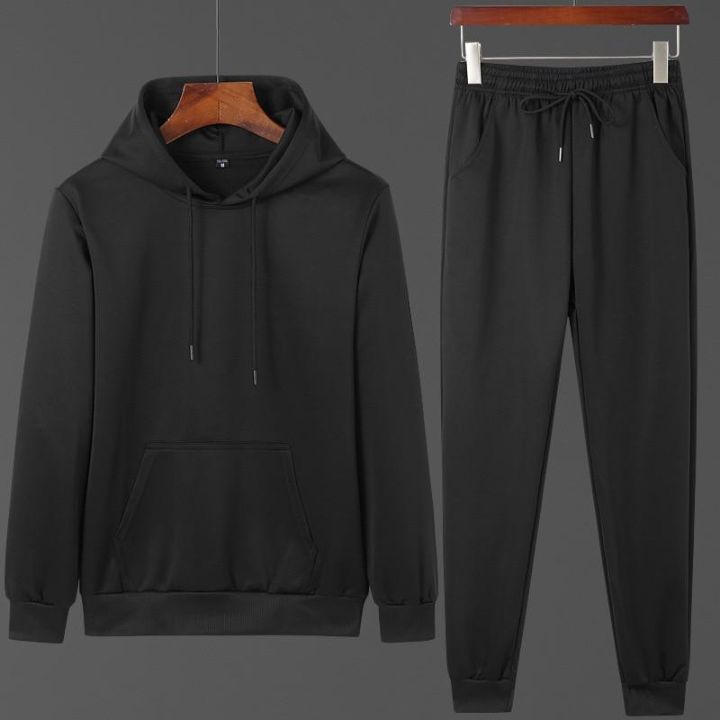 Hoodie Men's Fashion Two-Piece Set Men Casual Sports Clothing Set Men'S Wear Autumn And Winter