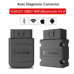 ELM327 OBD2 Wifi/Bluetooth V3.0 czytnik kodów samochodowych wielojęzyczne narzędzie diagnostyczne samochodów dla androida/IOS Auto skaner OBD2 ELM327