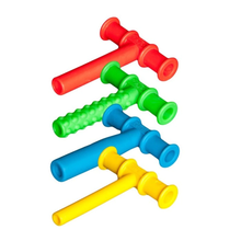 4PCS Chewing Tube Chewy Teether Baby Oral Motor Chew Tools Tuxtured Autism Sensory Therapy Toys Speech Therapy Tool(China)