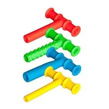 4 pçs tubo de mascar mordedor mastigável bebê ferramentas de mastigação do motor oral tuxtured autismo sensorial terapia brinquedos ferramenta de terapia da fala