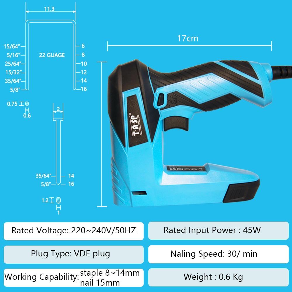 TASP 230V 2 az 1-ben szögező és tűzőgép bútor tűzőpisztoly - Elektromos kéziszerszámok - Fénykép 3