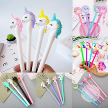 1pc Unicorn Pens Kawaii Neutral Gel Pen Cute Ink For School Office Writing Gifts Korean Stationery Promotional