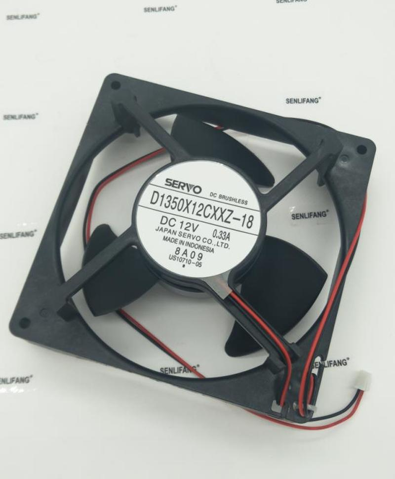 New Original D1350X12CXXZ-18 DC12V 0.33A 13.5cm For Refrigerator Cooling Fan One Year Warranty