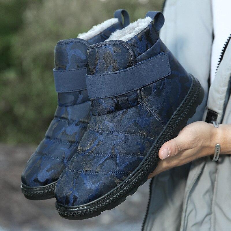 Мужские зимние сапоги на меху, Водонепроницаемый Мужская зимняя Ботильоны мужские ботинки рабочая обувь размера плюс плоская подошва женская обувь Мужская обувь|Зимние сапоги| | АлиЭкспресс