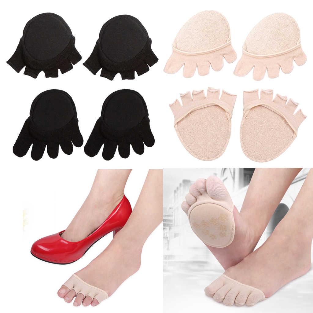1 paar Fünf Kappe Socken Unsichtbare Hälfte Socken No-show Anti-Skid Socke für Frauen