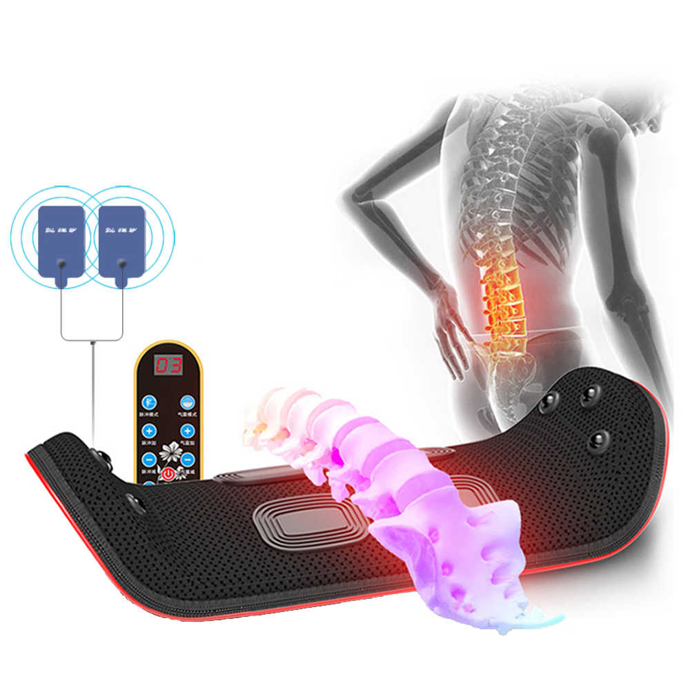 Electric Lumbar Traction Device Waist Back Massager Vibration Massage machine Lumbar Spine Support Waist Relieve fatigue