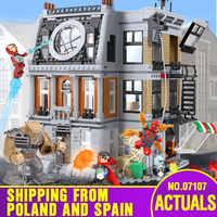 DHL 07107 Super Hero Toys Series The 76108 Sanctum Sanctorum Showdown Set Building Blocks Bricks Assembly Toys For Kids Gifts