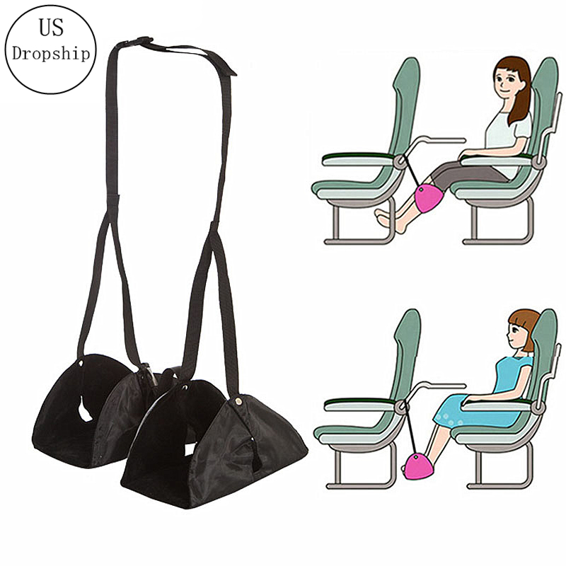 Foot Rest Portable Travel Footrest Flight Carry-on Foot Rest Office Feet Rest Leg Hammock Travel Accessories Footrest Hammock