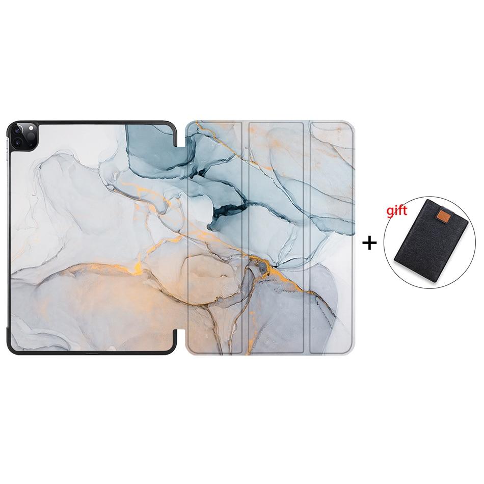 IP17 Khaki MTT Case For iPad Pro 12 9 inch 4th Gen 2020 PU Leather Flip Stand Smart