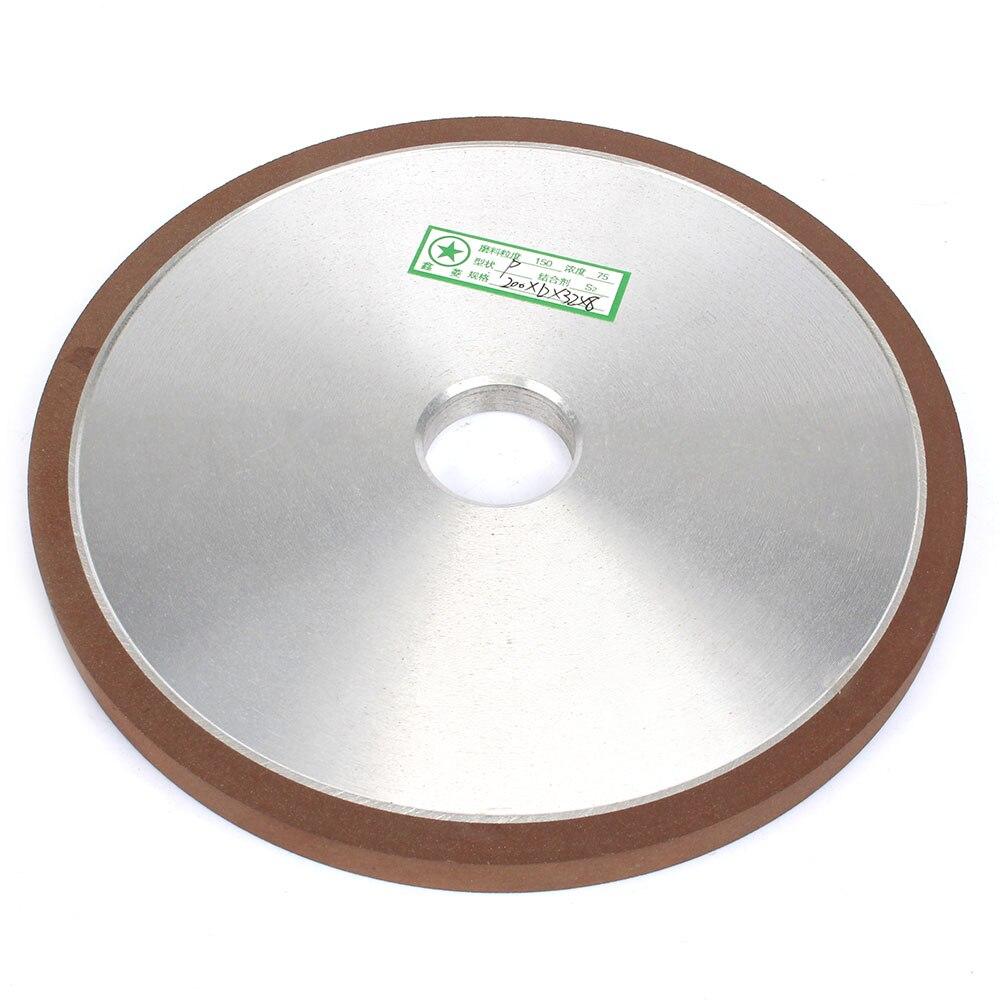 Disque de meule lié à la résine de diamant résistant à l'usure 200mm pour outil abrasif plat de polissage de carbure de lame de scie 12mm d'épaisseur