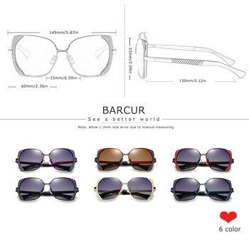 BARCUR Female Sunglasses Women Brand Designer Polarized Sunglasses Summer Lens Sun Glasses for Women Shades 4