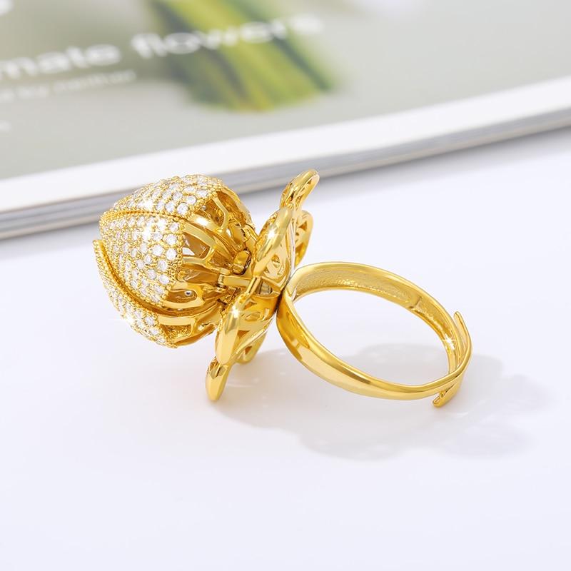 Vintage Adjustable Flower Bloom Ring