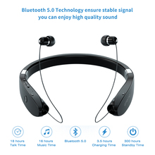 سماعات لاسلكية بشريط حول الرقبة سماعات بلوتوث مضادة للعرق سماعات بلوتوث للهاتف