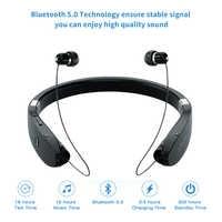 Auriculares inalámbricos con banda para el cuello, Auriculares Bluetooth a prueba De sudor, Auriculares inalámbricos Inalambrico Bluetooth para teléfono