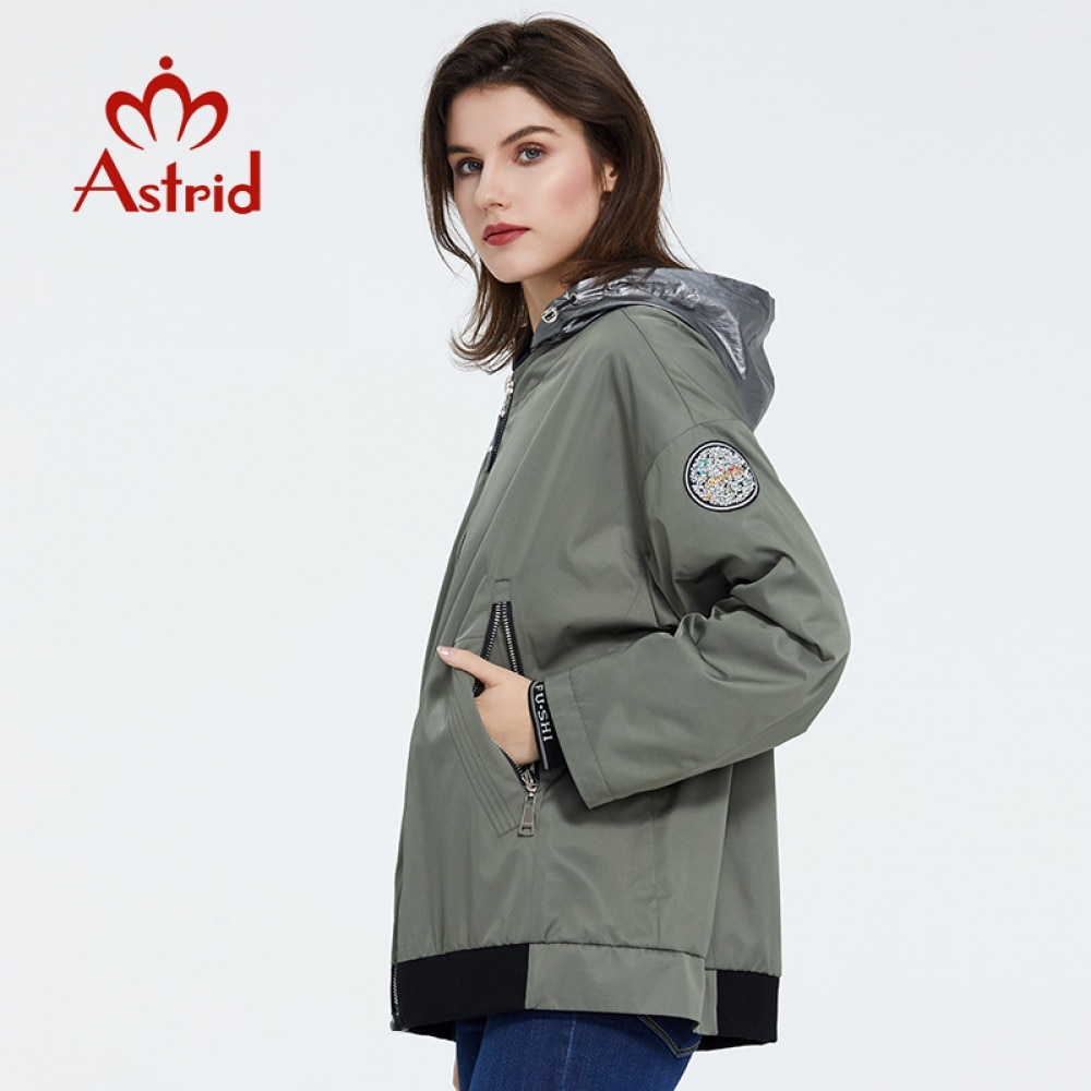 Astrid  2021 Spring Women Warm Cotton Padded Jacket Long Thin Parkas  plus size coat with a hood casual Short Parka AM-9317-2