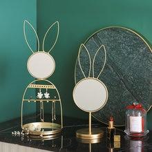 Декоративные зеркала в форме кролика скандинавский Золотой декор