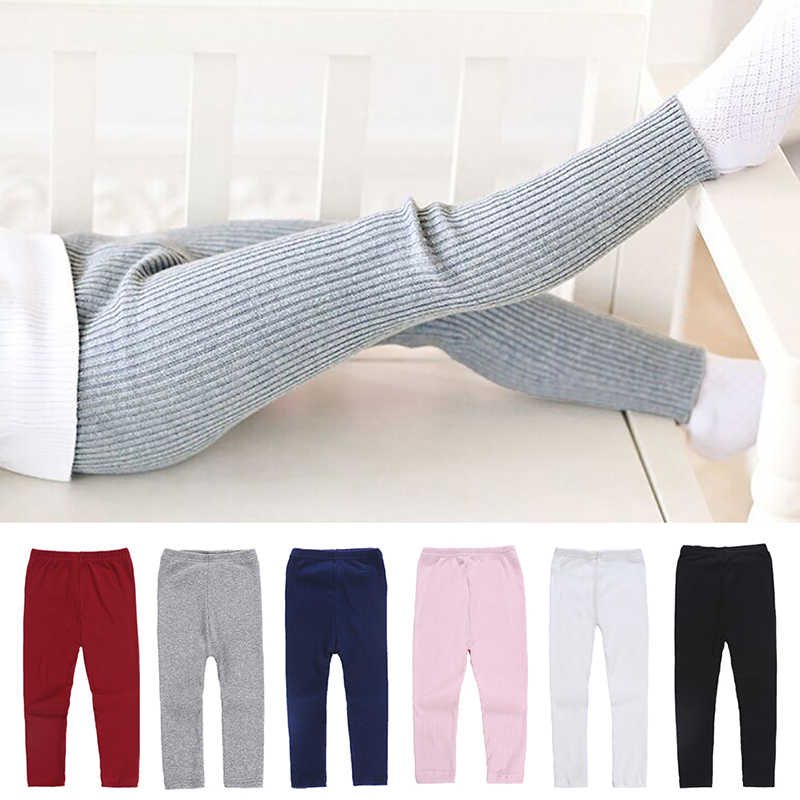 Baby Girls Leggings Pencil Pants Spring Winter Warm Candy Colors Ankle-length Skinny Legging Trouser for 2-6 Years Kids Clothes