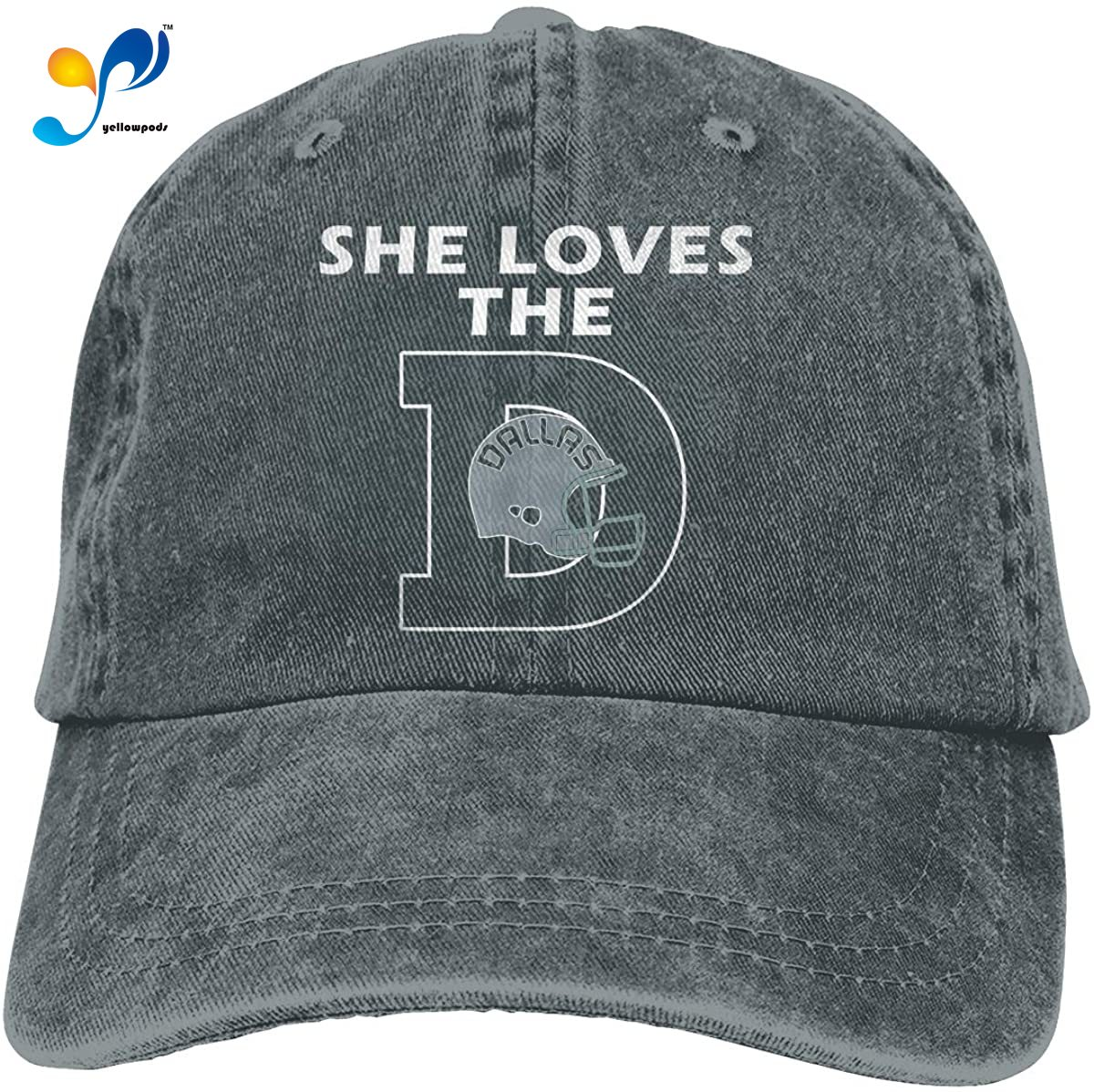 She Loves The Dallas Texas City Classic Football Commemorate Casquette Cap Vintage Adjustable Unisex Baseball Hat