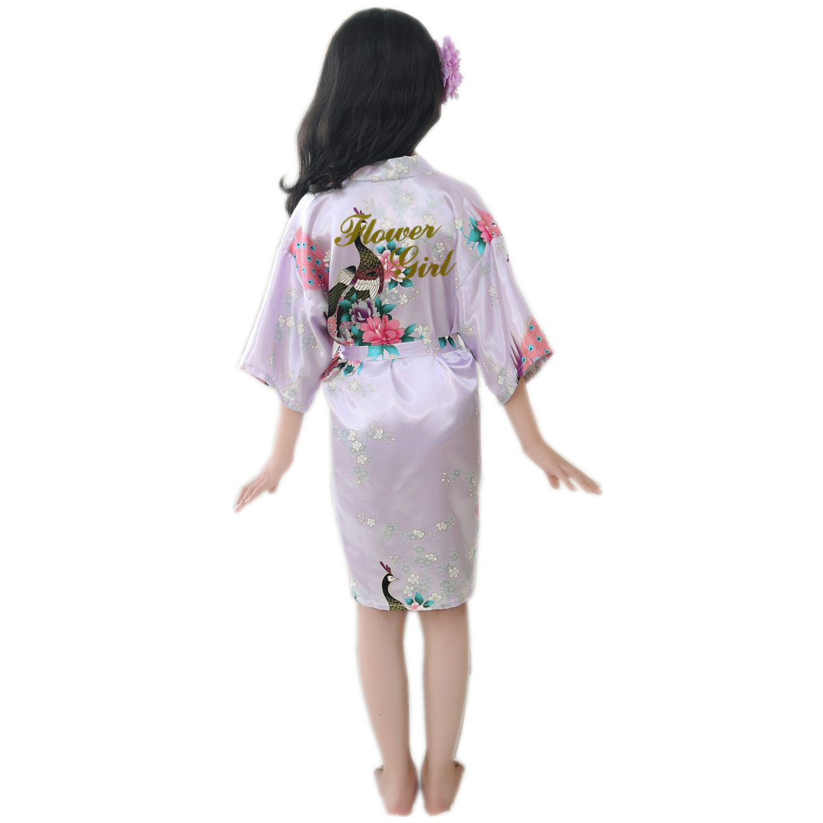 Children Peacock Bride Morning Gowns Tang Jin Zi Hot Drilling Flower Boys/Flower Girls Flower Girl Wedding Robe Cardigan