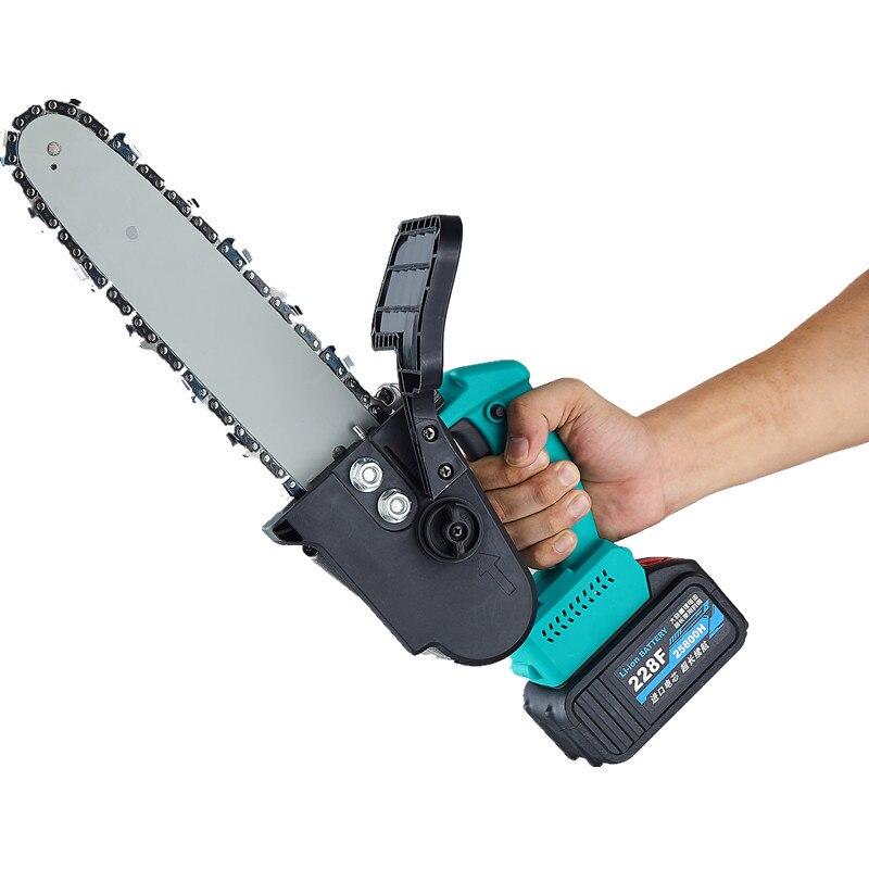 Новые 8 дюймов 21V аккумуляторная цепная пила 21V/4AH Батарея обмена с Прунер ножница бесщеточный мотор для дома, древесные резака садовые инструменты Бензопилы      АлиЭкспресс