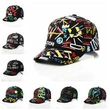 Children Snapback Hat Personality Street Dance Sun Peaked Cap for Boy and Girl Fashion Kids Graffiti Baseball Cap 4-8 Years Old
