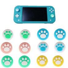 แมวน่ารัก PAW Claw SAKURA Thumb Stick จอยสติ๊กสำหรับ Nintend SWITCH Lite Joy CON Controller Gamepad กรณี Thumbstick