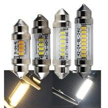 Peças lâmpadas led Festão 2 42 39 36 31mm mm mm mm C5W auto Luzes Dc 6 12 24 volt Carro Styling Interior Lâmpada de Leitura Lâmpada 24 12 v v