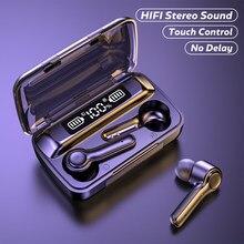 Fones de ouvido sem fio controle toque esportes à prova dbluetooth água bluetooth 5.0 9d alta fidelidade baixo fone estéreo com microfone
