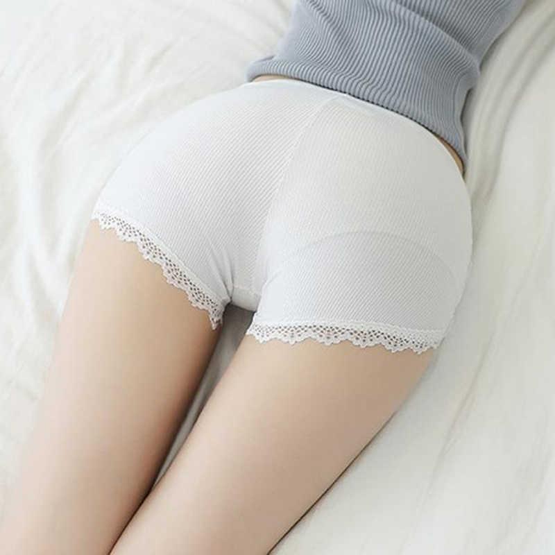 Женские Девушки нить шорты безопасности штаны мягкий материал брюки кружева анти-легкие женские страховые короткие студенческие тонкие свободные