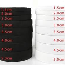 5 jardów 0.6-5cm biała czarna elastyczna opaska elastan wykończenie do obszycia/gumowa wstążka odzież Flex przewód nylonowy na spodenki spódnica Trouse