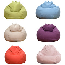 6 Colors Sofa Bean Bag Removable Bean Bag Sofa Coat Sofa Slipcover Cover for Lazy Sofa Living Room Couch Tatami Chair