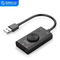 ORICO USB externo tarjeta de sonido estéreo USB tarjeta de sonido Mic altavoz Audio Jack 3,5mm Cable adaptador para PC Laptop unidad gratis