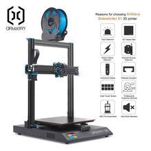 Impressora 3d sidewinder x1 SW X1, computador desktop, 3d pro, tamanho pro, suporte usb e cartão tf, tela sensível ao toque, artillery 3d