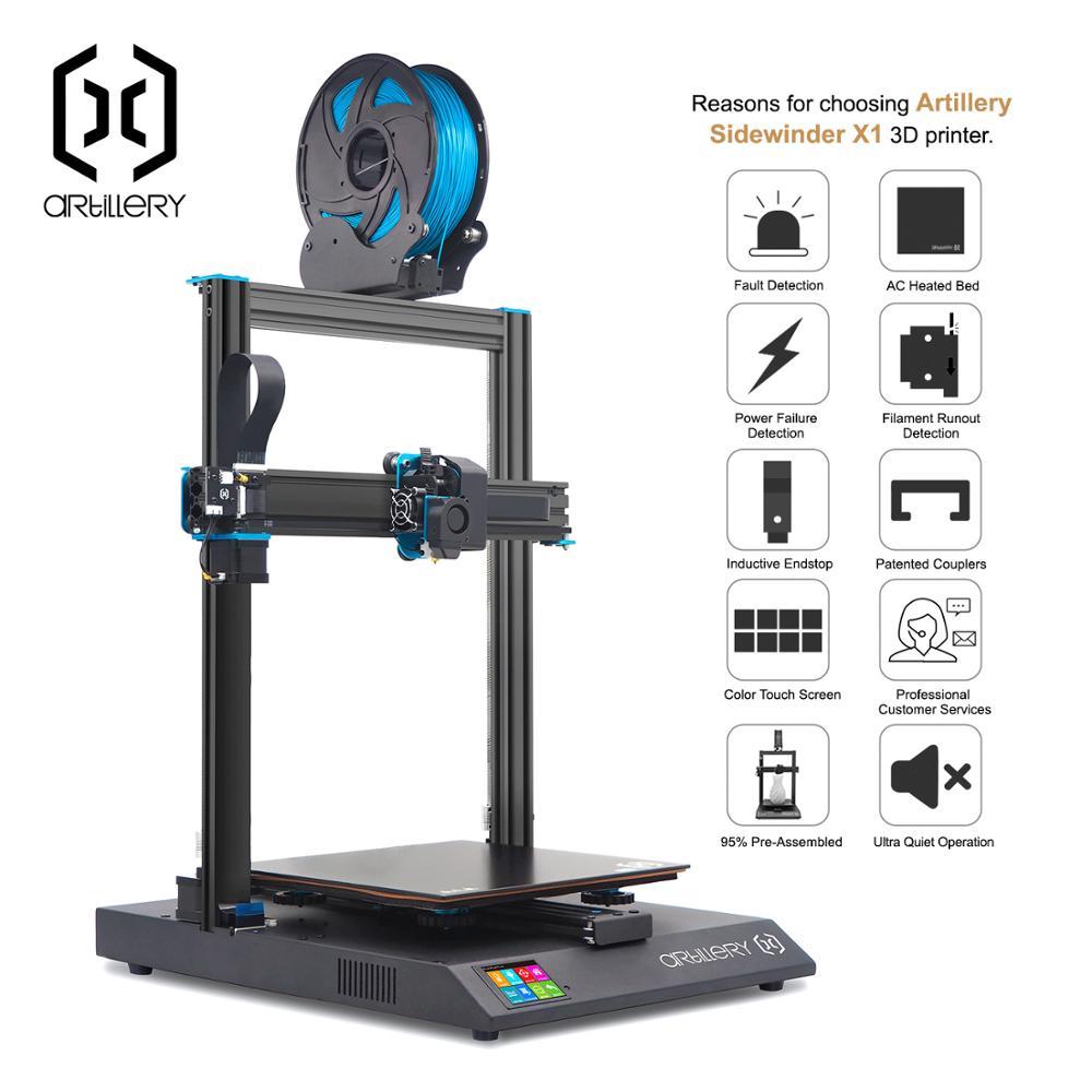 Imprimante 3D sidewinder x1 SW-X1 niveau de bureau 3d pro taille prise en charge USB et TF carte écran tactile artillerie 3d