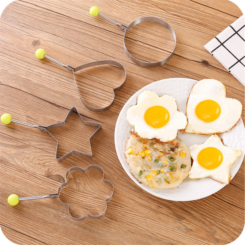 WSOMIGO Fried Egg Pancake Shaper Kitchen Accessories Cozinha Stainless Steel Shaper Mould Mold Kitchen Heart Kitchen Gadget-Q