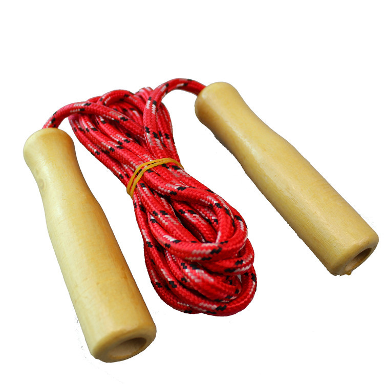 Creative Wooden Handle System Jump Rope Fitness Sports CHILDREN'S Toy Sports Young STUDENT'S Other Toys Stall Non-