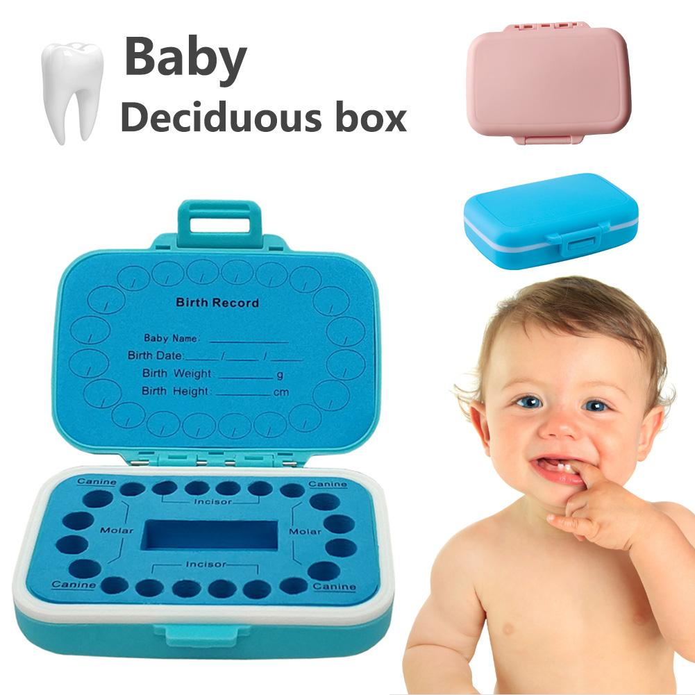 Baby Tooth Box Baby Hair Collection Plastic Box Tooth Saving House For Boys Girls