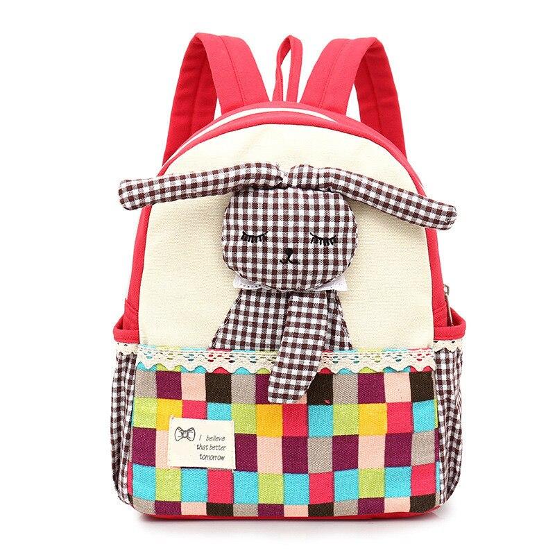 Новый школьный рюкзак для детского сада с милым кроликом из мультфильма, Детский рюкзак, тканевый светильник, рюкзак для путешествий для