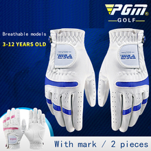 Golf-Gloves Elastic Pink Breathable Child Fabric with Ball-Marker for Kids Boys Girls