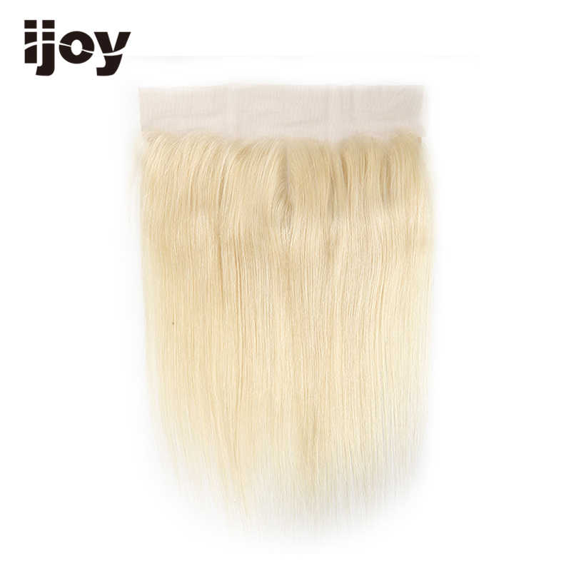"""Frontal de encaje de pelo humano 13 """"× 4"""" Ombre 613/T1B 613 pelo brasileño pre-desplumado Frontal recto no Remy IJOY"""