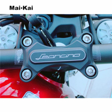 MAIKAI Motorcycle CNC Aluminum Steering Wheel Risers Upper Clamp Cover FOR Benelli Leoncino500 Leoncino 500