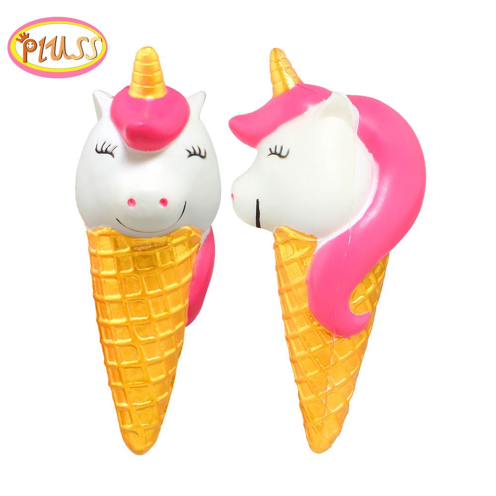 Jumbo Unicorn Ice Cream Squishy Slow Rising Soft Creative Squeeze Toys Simulation Stress Relief Funny Xmas Gift Toy For Kids