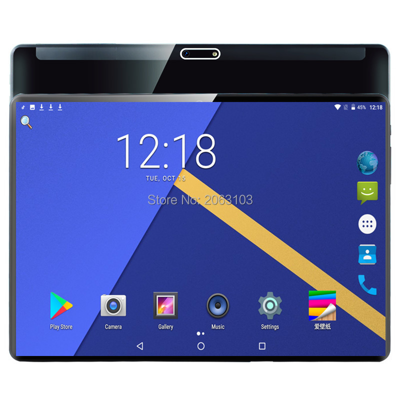 New Original 2.5D Glass 10 Inch Tablet Pc Deca Core 3G 4G Phone Call 10.1 Tablets 6G+64G Android 9.0 Tab Google Market GPS WiFi